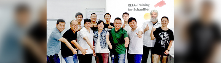 REFA-Training bei Schaeffler in Taicang